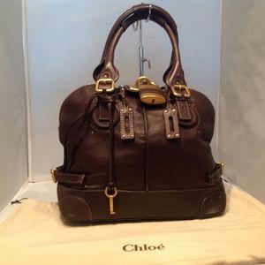 Chloe Paddington Large Satchel Leather Bag